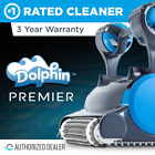 Dolphin Premier Robotic Pool Cleaner with Powerful Dual Scrubbing Brushes and up