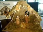 ROMAN FONTANINI Nativity Set 5 Figurines JosephMaryJesus and angels in Stable