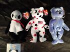Ty Beanie Babies Bears (Lot 3) Fortune 5/6, Clubby IV 5/7, Glory 5/6 Tags (J85)