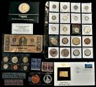 (Not a) Junk Box Lot C - Beautiful Coins inc. Silver, Medals, Stamps, more!