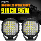 Pair 9Inch 96W Roof Bar Bumper Led Work Light For Jeep SUV ATV Offroad Driving