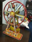 Vintage JChein Hercules Tin Litho Ferris Wheel Wind Up Toy RARE HTF