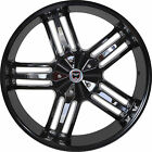 4 GWG Wheels 22 inch Black Chrome SPADE Rims fits ISUZU I 350 2006