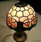 QUALITY REPRODUCTION TIFFANY TABLE LAMP with STYLIZED ROSES