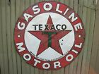 Vtg TEXACO Gasoline & Oil Porcelain Dealer Sign~42
