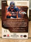 2008 SP Authentic By The Letter Auto Brandon Marshall 06 12