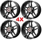20X10 GLOSS BLACK WHEELS RIMS 6X1397 XD MOTO FUEL LIFTED TRUCKS HOSTILE