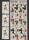 Suzy Zoo Border Stickers Dogs of Duckport Dogs Playing Dog Bones Frisbees