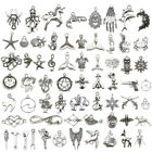 Lot Antique Silver Fashion Jewelry Charms Pendant Bracelet Carfts DIY Finding
