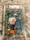 BVG BGS 1986 TOPPS JERRY RICE #161 ROOKIE RC HALL OF FAME