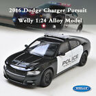 WELLY 124 2016 Dodge Charger R T Pursuit Police Vehicle Diecast Metal Model Car