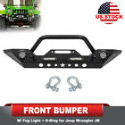 Steel Front Bumper with Winch Plate 2 Stage Finish for Jeep Wrangler JK 07 18