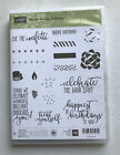 Stampin Up PICTURE PERFECT BIRTHDAY Photopolymer Rubber Stamps RETIRED