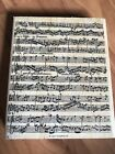 Stampin Up Background Stamp Musical Score Wood mount 2000 Piano Music Notes