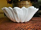 INDIANA MILK GLASS LILY PONS SERVING BOWL #605-BEAUTIFULLY SCALLOPED 7