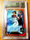 Austin Riley 2015 Chrome 1st RC Auto Orange Refractor 25 BGS 9.5 10 Braves