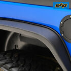 EAG Fits 07 18 Jeep Wrangler JK 1 5 inch Thickness Steel Rear Fender Flares