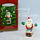 2001 Hallmark Springing Santa Keepsake Ornament Jack in the Box Santa Claus MIB
