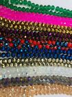 Briolette Rondelle Crystal Glass beads 10mm Asst Colors Approx 65 beads string