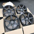 17x8 +35 Enkei T6S 5x1143 Black Rims Wheels Fits Veloster Mazda Speed 3 Civic