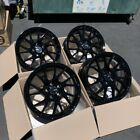 17x8 5x1143 Enkei Rims TM7 +35 Black Rims Fits Veloster Mazda Speed 3 Civic