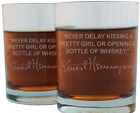 Ernest Hemingway Famous Quote Etched Whiskey Glass Set