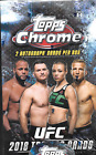 2018 Topps UFC Chrome box 2 autographs hobby sealed new
