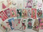 Vintage Style Shabby CHRISTMAS CARDS DIE CUTS Gift Tags 48 Cute Pieces P48