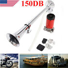 150db 12V Super Loud Air Horn Compressor Single Trumpet Truck Train Boat