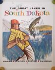 SOUTH DAKOTA VINTAGE TRAVEL POSTER FISHING 1960s MID CENTURY ILLUSTRATION 22x28