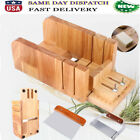 Soap Cutter Tool Set 3 Adjustable Wood Loaf Cutting Box Wavy  Straight Blade US
