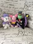 Vintage Disney Store Beanie Baby Plush Toys W/Tag Lot 4 Dragon/ Cricket/ Piglet