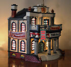 1999 Lemax Village Collection Millennium Celebration Porcelain Lighted Town Hall