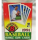 1991 Bowman Baseball Wax Box . Possible mint Chipper Jones or Thome rookie cards
