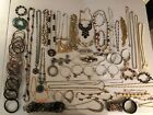 Huge Vintage And Modern Jewelry Lot Necklaces Chains Bracelets