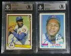 1982 Topps & Donruss Lee Smith Signed Rookie Card Autograph Lot RC BGS BAS Cubs