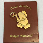 Vintage Weight Watchers Charm 16 Clapping Hands Milestone Charm Gold Tone