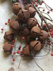 24 Primitive Rusty Bell Tin JINGLE BELLS 30mm 1 1 in Christmas Crafts Farmhouse