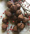 12 Primitive Rusty Bell Tin JINGLE BELLS 30mm 1 1 in Christmas Crafts Farmhouse