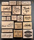 THANK YOU THEME GREETINGS  SAYINGS RUBBER STAMPS YOU CHOOSE NICE VARIETY