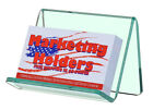 Business Card Gift Card Green Edge Glass Single Pocket Display Holder Qty 12