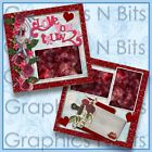 LOVE YOU TRULY Printed Premade Scrapbook 2 Page Layout