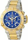 New Invicta Men's 80507 Subaqua SWISS MADE Chronograph BLUE Dial Bracelet Watch