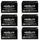6 PACK NEW 12V 12AH F2 Replacement Battery for Zappy Classic Electric Scooter