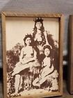 Vintage NATIVE HAWAIIAN WOMEN with 2 kids Canvas Picture