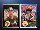 1990 Kenner Starting Line Up MARK MCGWIRE and ERIC METCALF  VG creased RARE FIND