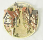 David Winter Cottages Collectors Guild 3D Wall Plate English Village Scene + Box