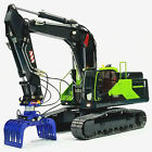 1 14 RC Metal Hydraulic Excavator Model 380 3 With Adjustable Boom Toy Best Gift