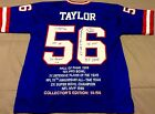 N.Y. Giants Lawrence Taylor Autograph authentic jersey inscriptions 56 56 C.O.A.