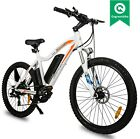 NEW LEOPARD 26 500W White Electric Bicycle Lithium City Eco bike moped